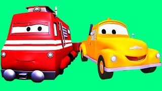 Tom la Grúa y Troy el Tren con sus amigos el Camión de Basura, de Bomberos, ¡y muchos más!