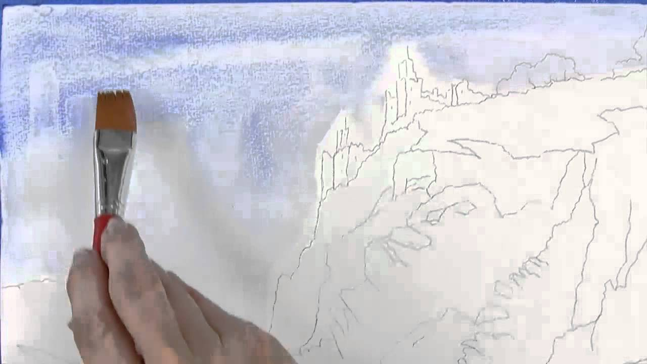 How to blend out watercolor paint watercolor painting for Video tutorial on watercolor painting