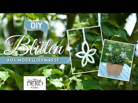 DIY: hübsche Blüten aus Modelliermasse zum Aufhängen [How to] | Deko Kitchen