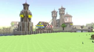 Minecraft Render - Eastern Border of Denbrook