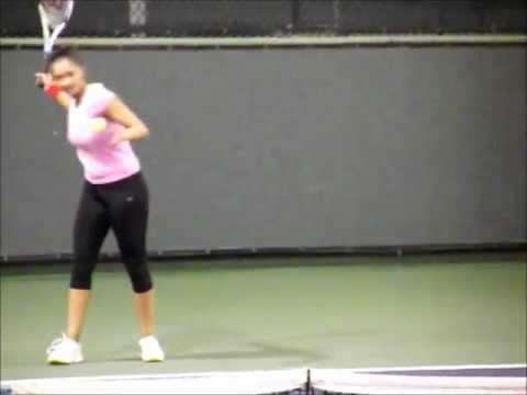 Sania Mirza Practice video