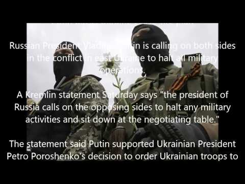 Putin backs Ukraine cease-fire plan