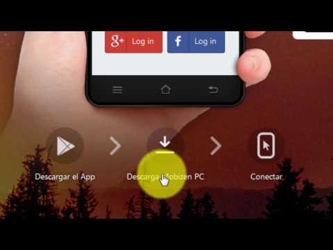 Ver el celular en la pc con Mobizen Mirroring
