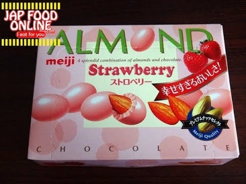 meiji ALMOND Strawberry, as if sexy lingerie package, give too much happy experience.
