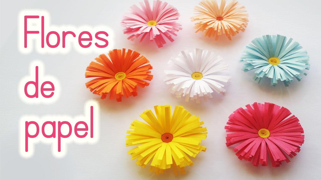 Manualidades flores de papel margaritas f cil innova - Manualidades en papel ...