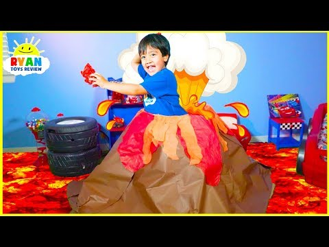 How Do Volcano Erupt?    Educational Video for kids with Ryan ToysReview