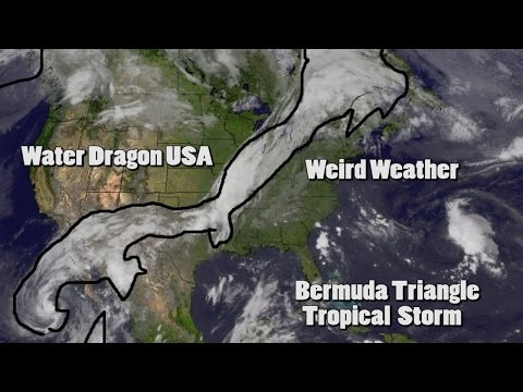 Weird Weather: Water Dragon over USA & Bermuda Triangle Tropical Storm
