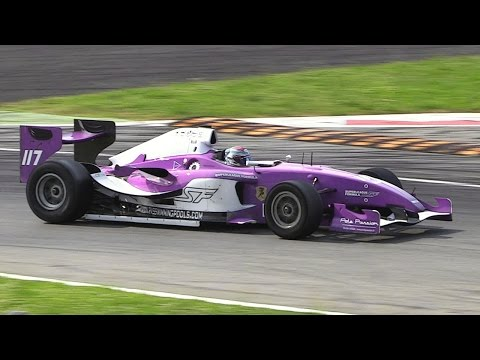 Superleague Formula Cars EPIC Sound at Monza Circuit - 4.2-litre V12 Engine