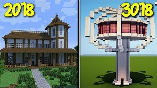 Minecraft WHAT WOULD MARK OUR FRIENDLY ZOMBIE HOUSE LOOK LIKE IN 2018 AND 3018 !! Minecraft Mods