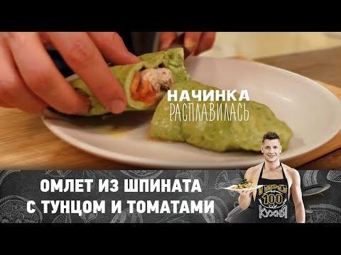 Рецепт омлета из шпината с тунцом и томатами   ПроСто кухня