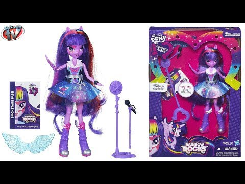 My Little Pony Equestria Girls: Rainbow Rocks Singing Twilight Sparkle Doll Toy Review. Hasbro