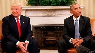 Obama meets with President Trump at White House
