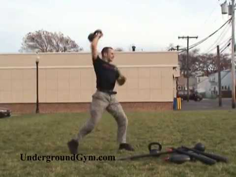 Advanced Kettlebell Exercise -- Greg's Clean and Press Image 1