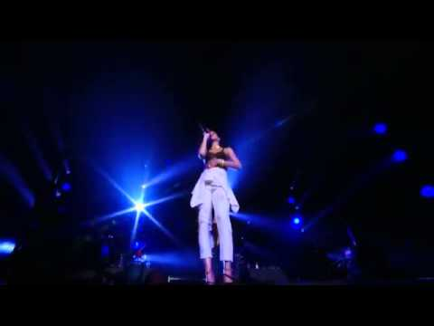 Rihanna getting mad after a sound problem while performing in London   YouTube