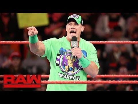 John Cena wants The Undertaker to return for one more match at WrestleMania: Raw, March 12, 2018 thumbnail