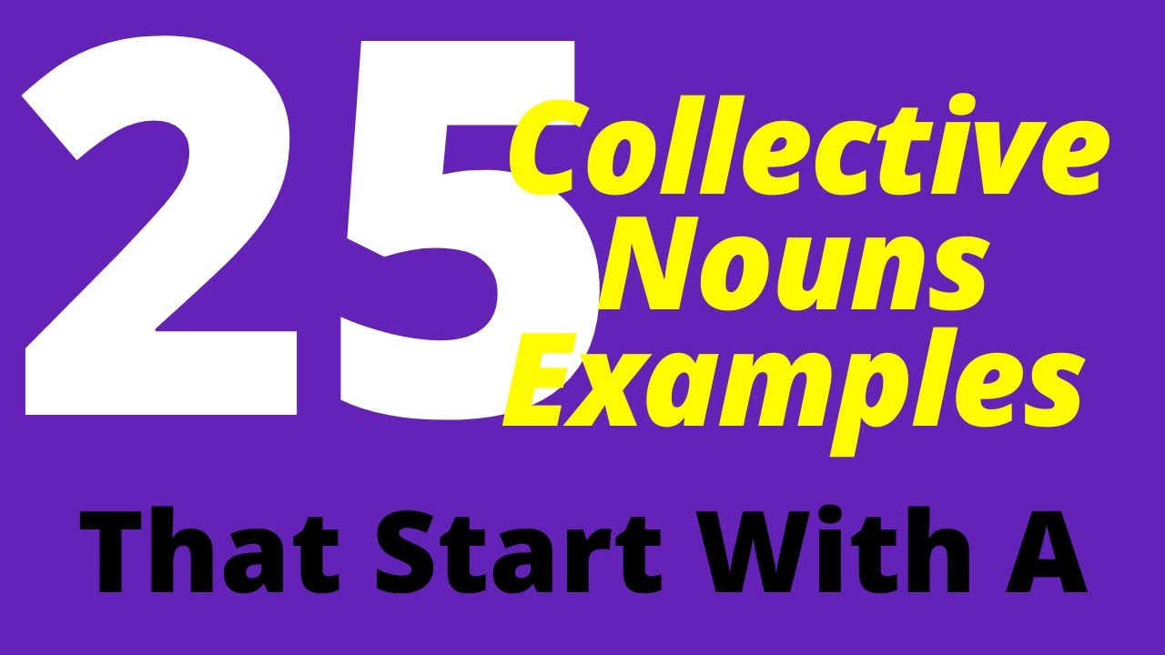 25 Collective Nouns Examples List That Start With A - YouTube