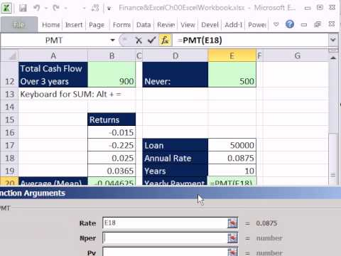 Excel Finance Class 02: Getting Started with Formulas, Functions, Formula Inputs and Cell References