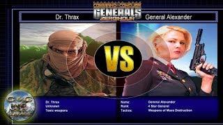 C&C Generals Zero Hour Challenge Toxin 04: Dr. Thrax x Gen. Alexander [HARD]