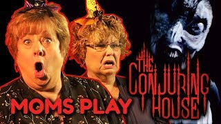 Moms get SPOOPED in The Conjuring House!