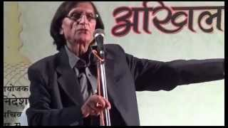 Wasim Barelvi in Jashne Urdu Mushaira at Patna Part 2