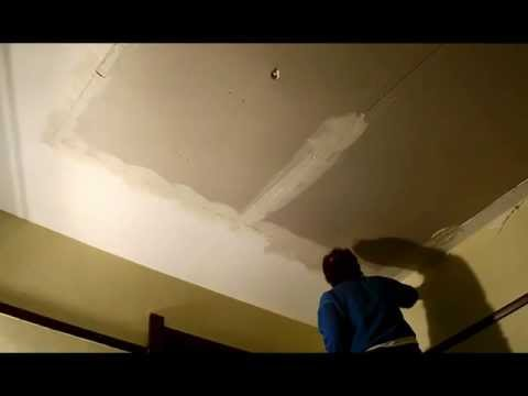 Plastering and Painting Repairs to a Water Damaged Ceiling