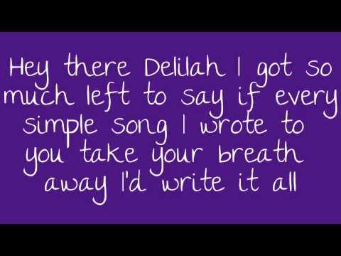 Hey There Delilah Lyrics