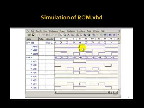 Lesson 101 - Example 68: A VHDL ROM