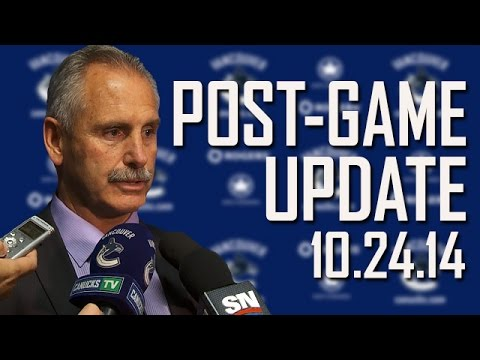 Willie Desjardins Post-Game in Colorado (Oct. 24, 2014)