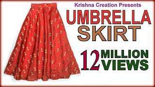 Umbrella Skirt ,अम्ब्रेला स्कर्ट ,  Drafting, Cutting & Stitching  in Hindi By krishna creation
