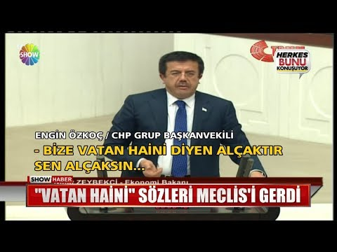 """Vatan Haini"" sözleri Meclis'i gerdi"