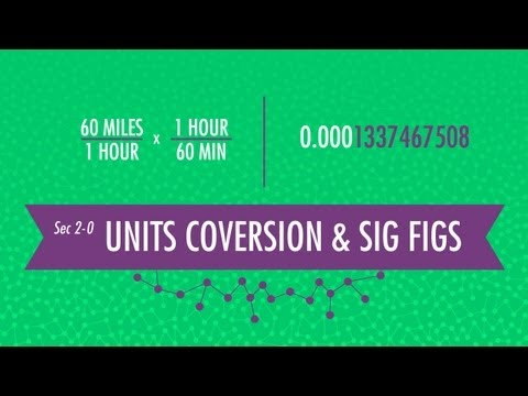 Unit Conversion & Significant Figures: Crash Course Chemistry #2