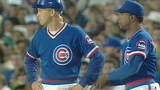 CHC@SD: Mark Grace gets his first big league hit