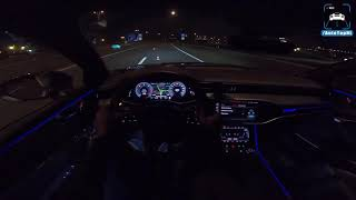 2019 AUDI A7 Sportback   NIGHT Drive POV