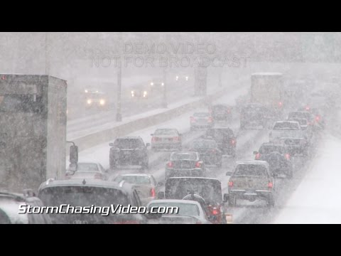 1/26/2015 Stamford, CT Noreaster - Winter Storm, B-Roll