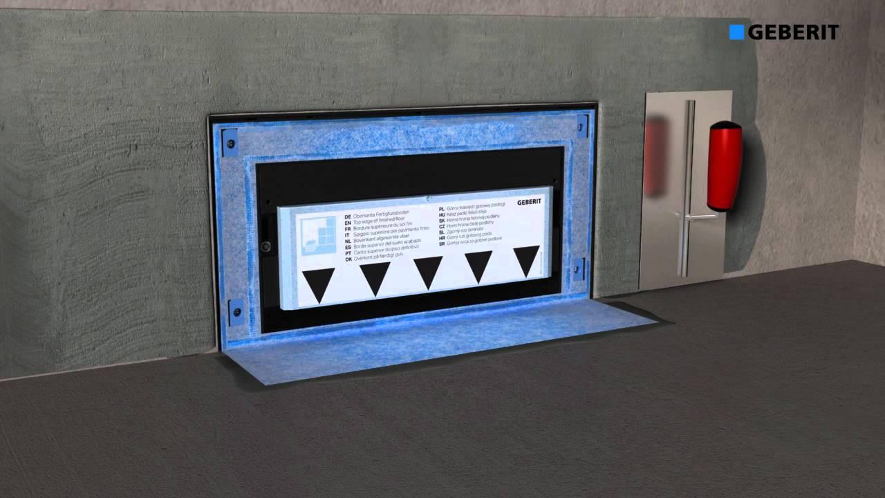 montage geberit gis duschelement mybadshop youtube. Black Bedroom Furniture Sets. Home Design Ideas