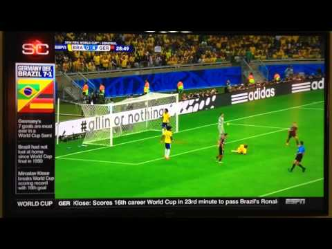 Highlights Germany Vs Brazil 7-1 World Cup 2014
