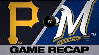 Grisham, Anderson fuel Brewers' 10-1 win | Pirates-Brewers Game Highlights 9/20/19