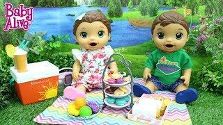 BABY ALIVE GÊMEOS LAURINHA E FELIPINHO FAZENDO PICNIC NO PARQUE