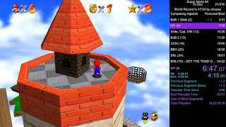 Super Mario 64 70 Star Speedrun in 52:34