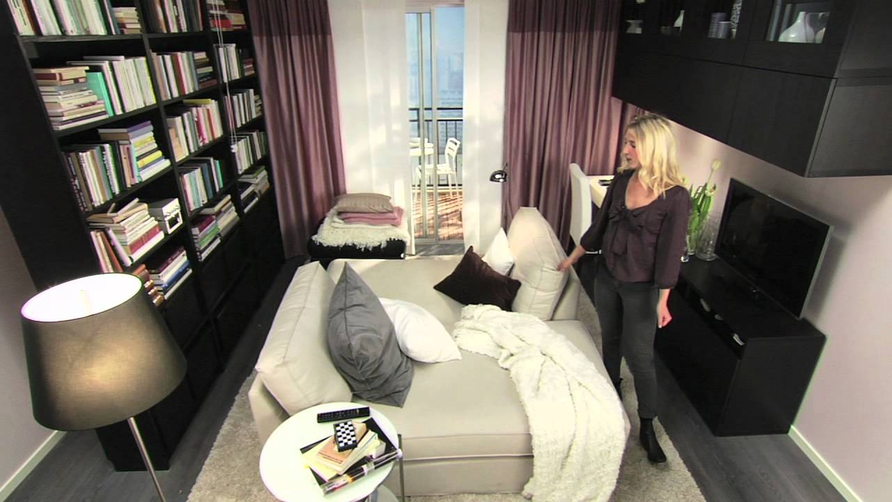 ikea f r kleine r ume 10 m mehr zweisamkeit youtube. Black Bedroom Furniture Sets. Home Design Ideas