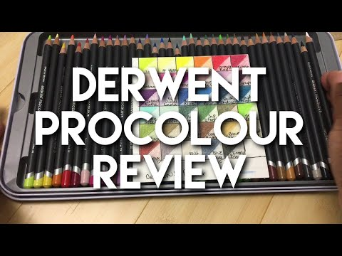 Derwent Procolour Colored Pencil Review and Comparison.