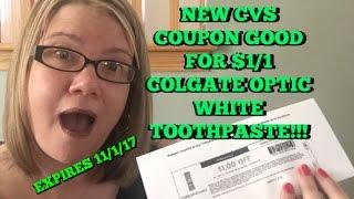 HOT New CVS Coupon:  $1/1 Colgate Optic White!