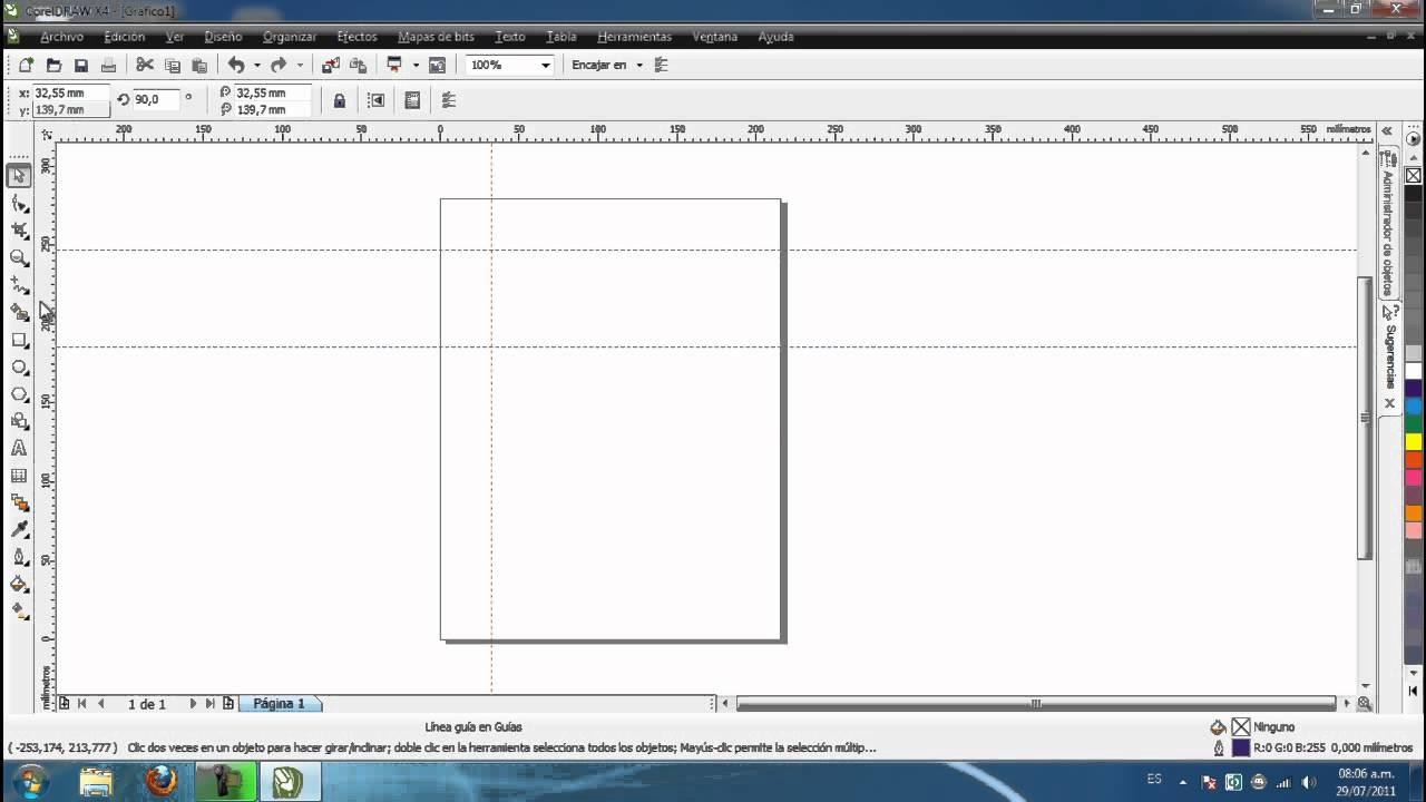 Tutorial No. 0 - CorelDraw X4 - Introduccion e interfaz ...
