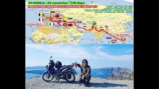 QUÁ KHỦNG!!! Chàng trai Việt Nam đi vòng quanh thế giới bằng xe máy!