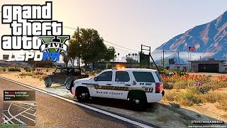 GTA 5 LSPDFR 0.3 - EPiSODE 17 - LET'S BE COPS - SHERIFF PATROL (GTA 5 PC POLICE) K9