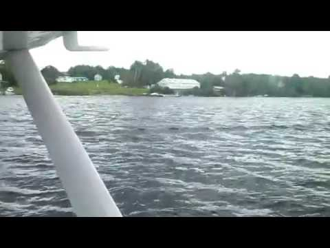 Our ride on a seaplane up at Moosehead lake Maine