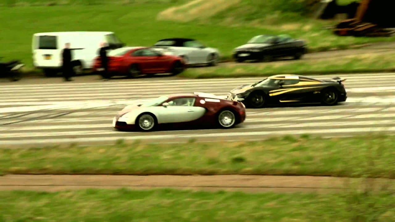 second teaser bugatti veyron 16 4 vs koenigsegg agera s hundra youtube. Black Bedroom Furniture Sets. Home Design Ideas
