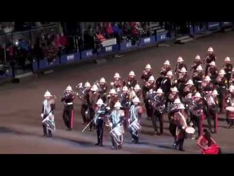Edinburgh Royal Military Tattoo Massed Pipes and Drums and Malta Ellipsis Dance - August, 2014