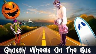 Ghostly Wheels On The Bus Nursery Rhyme | Kids Songs | Rhymes For Children
