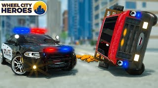 Download Song Police Car Helps Van full of Oranges | Wheel City Heroes | Street Vehicles Cartoon for Kids Free StafaMp3